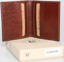 8007 Mens real genuine leather wallet made in Italy, Custom Personal Imprint