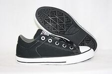 NEW Boys Kids Youth CONVERSE High Street Ox 647735F Black NO TIE Sneakers Shoes
