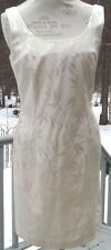 J.R. Nites by Caliendo  cream sleeveless dress  embroidered leaves  dry clean