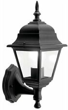 Black White Lantern Wall Light Fitting 4 Or 6 Sided With Or Without PIR Quality