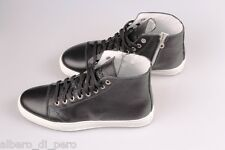 SNEAKERS con zip  alte scarpe srtinghe 100% vera pelle  made in italy  shoes