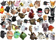 Latex Overhead Animal Mask Head Masks Cosplay Masquerade Fancy Dress Up Carnival