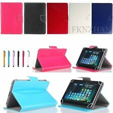 """7"""" Universal Folio Stand PU Leather Case Cover for Most 7""""-7.9"""" inch Tablet New"""