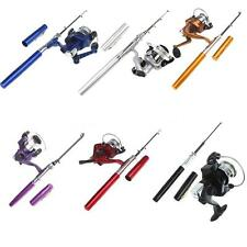 Portable Mini Aluminum Pocket Pen Shape Fishing Fish Rod Pole + Fishing Reel