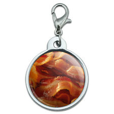 Chrome Plated Metal Small Pet ID Dog Cat Tag Food Drink Bacon Coffee