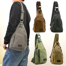 Mens Military Vintage Canvas Rucksack Satchel Shoulder Bag Messenger Travel Bag