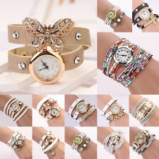 Fashion Vintage Dial Rhinestone Women Ladies Bracelet Wrist Watch
