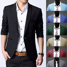 Hot  Stylish Mens Casual Slim Fit One Button Suit Blazer Coat Jacket Tops Office