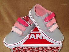 NEW VANS MADDIE V CANVAS SHOE GRY/PINK/CORAL GIRLS SZ 11, 11.5,12,12.5, 13, 13.5