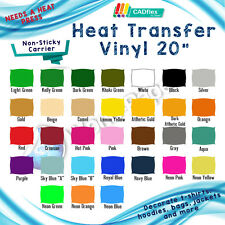 "Heat Transfer Vinyl Material tshirt Press 20"" x yards roll"