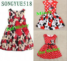 1-6 Years Minnie Mouse Princess Birthday Party Outfit Girls Dress Kids Clothing