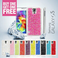 2x Deluxe Clear Crystal Diamond Bling Hard Cover Case For Samsung Galaxy S5