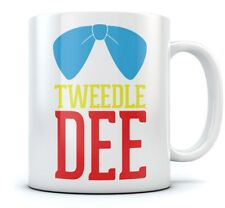 Tweedle Dee Coffee Mug Matching Funny Slogan Printed Tea Cup Cool Ceramic Mug
