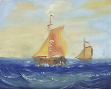 """SEA SHIP BEACH SCENES 30 TO CHOOSE FROM ART OIL PAINTING OR CANVAS PRINTS 8x10"""""""