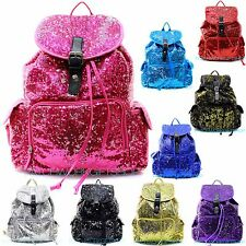 Sequin Bling GLITTER SEQUIN Drawstring BACKPACK LARGE Book Victoria DANCE CHEER
