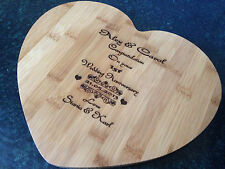 PERSONALISED WOODEN CHOPPING BREAD CHEESE BOARD,WEDDING,ANNIVERSARY,GIFT PRESENT