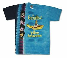 "THE BEATLES ""YELLOW SUB AND BOYS"" LIQUID BLUE TYE DIE T-SHIRT NEW OFFICIAL ADULT"