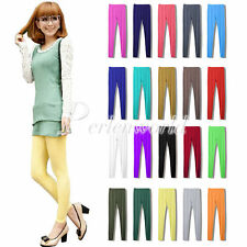 New Women Stretch Slim Fit Candy Color Soft Pants Tights