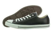 Converse Chuck Taylor AS Leather OX 107348 Fashion Black Casual Shoes (D, M) Men