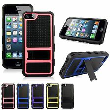 Apple iPhone 4 4s 4g Dual Hard and Soft Layer Hybrid Kickstand Shockproof Cover