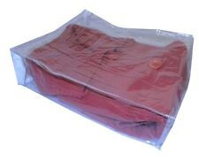 Clear Vinyl Zippered Storage Bags in Various Sizes for Bedding, Clothing, Travel