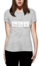 Bacon Chemistry Funny Periodic Table Women T-Shirt