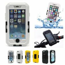 IPX8 Waterproof Tough Case Motorcycle Bike Handlebar Mount For iPhone 6plus 5.5""