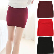 Up Sexy Women Mini Skirt Pleated Seamless Stretch Tight Business Pencil Dress