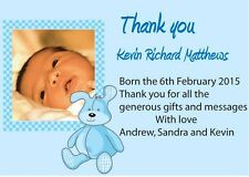 personalised photo New Baby Girl /Boy  Birth announcement / thank you cards