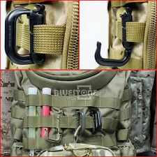 4pc Tactical Grimloc Safe Buckle MOLLE Locking Snap D-ring EDC Carabiner Webbing