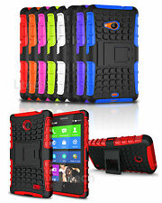 Nokia Lumia 730 Shockproof Tough Hard Silicone Strong Case Cover with Stand