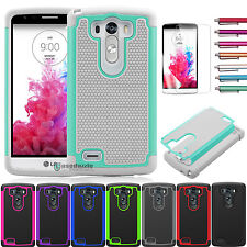 Heavy Duty Hybrid Shockproof Rugged Rubber Protector Hard Case Cover For LG G3