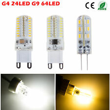 G4 G9 3W/5W 3014 SMD 24/64 LED Light Corn Bulb Lamp Power Saving Warm/Cool White