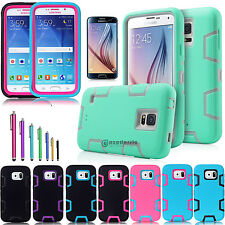 Hybrid Rubber Rugged ShockProof Heavy Duty Hard Case Cover For Samsung Galaxy S6