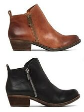 "womens LUCKY BRAND ""Basel"" leather western inspired booties"
