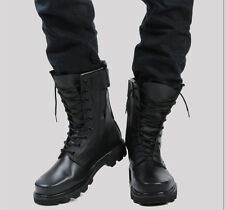 Fashion Men's Military Casual Mid Calf Boots Combat Lace Up Round Toe Shoes Size