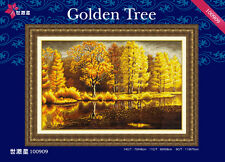 Golden Tree / Glitter Woods in Autumn/ Fall @ DOME counted cross stitch kit
