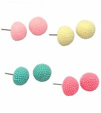 Lady Fashion Exquisite Lovely Colourful Sweet Circle Stud Pin Earrings Gift