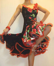 U4963 Evening Ballroom Women latin chahcha swing salsa dance dress Custom made