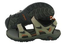 Teva Katavi 4144-WAL Walnut Suede Mesh Velcro Strap Sandals Medium (D, M) Mens