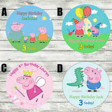 "PEPPA PIG/GEORGE PIG 7.5"" EDIBLE BIRTHDAY CAKE TOPPER DECORATION PERSONALISED"