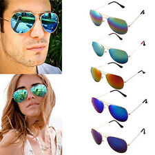 Luxury Womens Mens Polarized Retro Mirror Lens Sunglasses Glasses