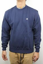 Champion Eco Fleece Navy Blue Mens Crew Neck Sweatshirt