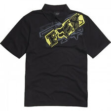 FOX RACING BOYS BRAZZER POLO SHIRT TEE T-SHIRT motocross mx bmx kids youth BLACK