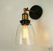 Clear Glass Shade Ceiling Vintage Retro Chandelier LED Pendant Wall Light Lamp