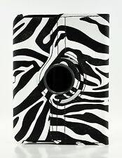 Amazon Kindle Fire HD 7.0 8.9 Zebra 360 Degree Rotating PU Leather Case Cover