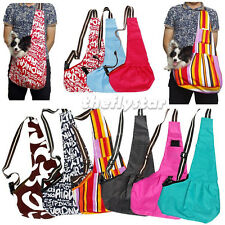 Multi color Oxford Cloth Sling Pet Dog Cat Carrier Tote Single Shoulder Bag S-L