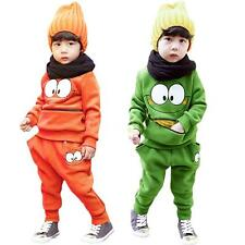 NEW Baby Boys Girls Kids Autumn SportsWear Tracksuit Outfit Unisex Smiling Face