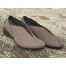 Shoes Enval soft Women's 49204 moccasin slip on Made in Italy Suede Taupe elasti
