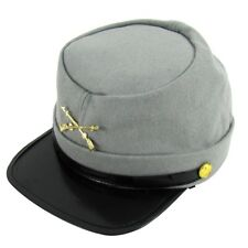 CSA Soldier CS Army Civil War Reenactor Kepi Gray Wool Hat Small/Medium/Large